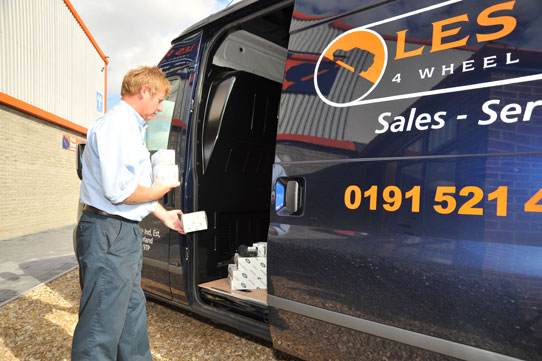 Les Potts Genuine Parts Delivery