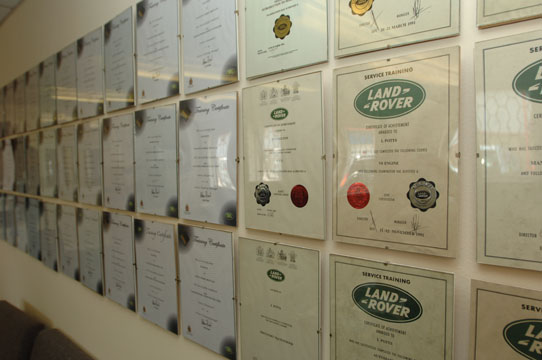 Land Rover Trained Technicians